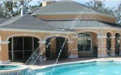 Legacy Villas vacation rental condo pool area in Gulfport, MS